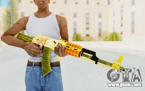 CS:GO - AK-47 Dragon Lore para GTA San Andreas tercera pantalla