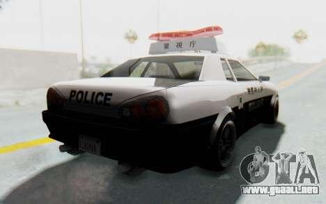 Elegy Japanese Police para la visión correcta GTA San Andreas