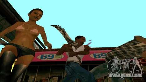 Prince Of Persia Water Sword para GTA San Andreas sucesivamente de pantalla