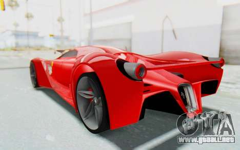 Ferrari F80 Concept 2015 Beta para GTA San Andreas left