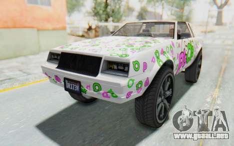 GTA 5 Willard Faction Custom Donk v1 IVF para el motor de GTA San Andreas