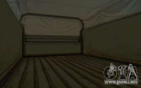MGSV Phantom Pain BOAR 53CT Truck Roof para GTA San Andreas vista hacia atrás