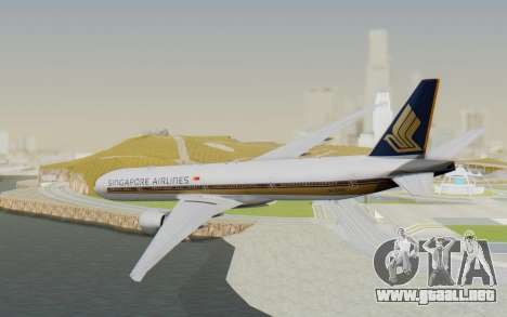 Boeing 777-300ER Singapore Airlines v1 para GTA San Andreas left