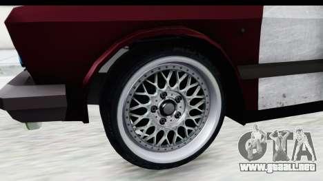 Zastava Yugo Koral Rat Style para GTA San Andreas vista hacia atrás