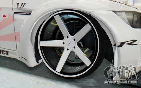 BMW M3 E92 Liberty Walk LB Performance para GTA San Andreas vista hacia atrás