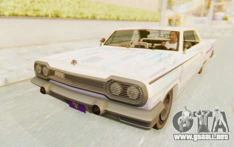 GTA 5 Declasse Voodoo SA Lights para la vista superior GTA San Andreas