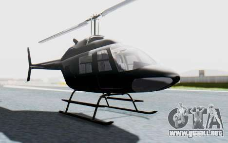 Bell 206B-III Jet Ranger Policja para la visión correcta GTA San Andreas