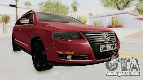 Volkswagen Passat B6 Variant para la visión correcta GTA San Andreas
