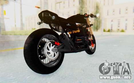 Kawasaki Z1000 Moghe Cafe Racer para GTA San Andreas left