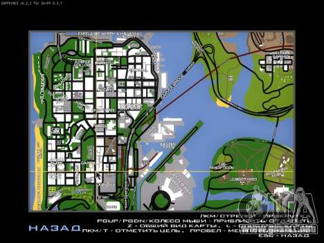 Mapa de SAMP para GTA San Andreas segunda pantalla