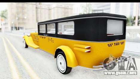Unique V16 Fordor Taxi para GTA San Andreas left