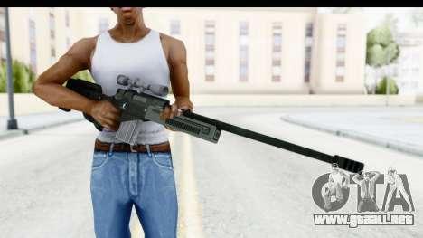 GTA 5 Shrewsbury Sniper Rifle para GTA San Andreas tercera pantalla