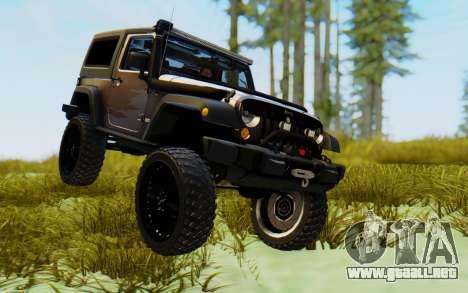 Jeep Wrangler Rubicon 2012 para la visión correcta GTA San Andreas