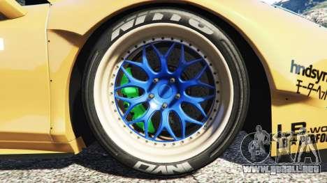 GTA 5 Ferrari 458 Spider [Liberty Walk] vista lateral trasera derecha