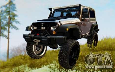 Jeep Wrangler Rubicon 2012 para GTA San Andreas