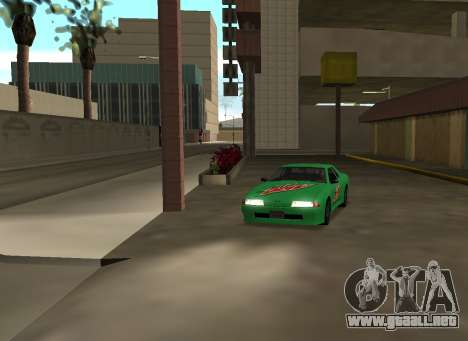 New vinyls for Elegy para GTA San Andreas vista hacia atrás
