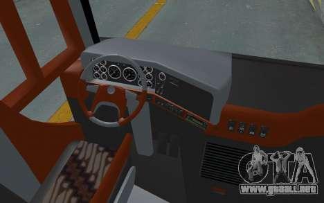 Hino Evo-C Transjakarta Feeder Bus para GTA San Andreas vista hacia atrás