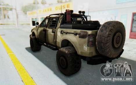 Toyota Hilux Technical Desert para GTA San Andreas left
