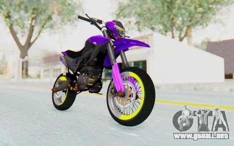 Honda NXR 160 Bros Supermoto Elite para la visión correcta GTA San Andreas