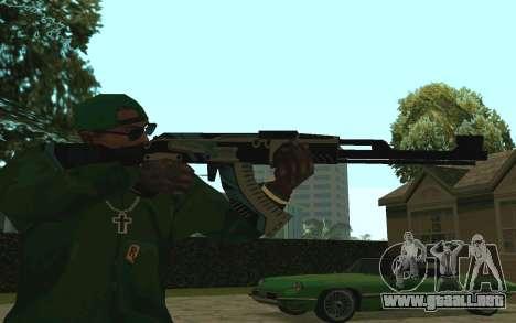 AK-47 Vulcan (SA) para GTA San Andreas segunda pantalla
