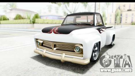 GTA 5 Vapid Slamvan without Hydro para la vista superior GTA San Andreas