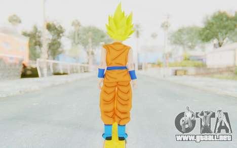 Dragon Ball Xenoverse Female Saiyan SSJ para GTA San Andreas tercera pantalla