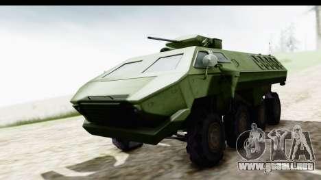 Lazar Serbian Armored Vehicle para la visión correcta GTA San Andreas