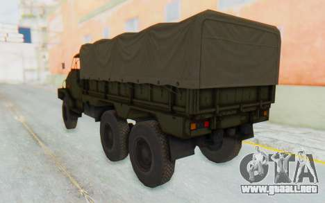 MGSV Phantom Pain BOAR 53CT Truck Roof para GTA San Andreas left