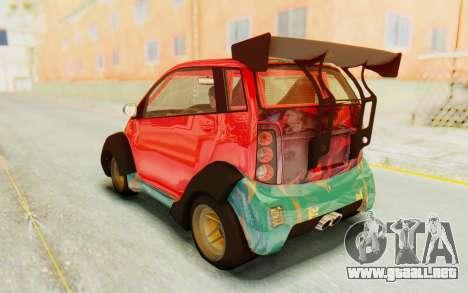 GTA 5 Benefactor Panto Custom para vista lateral GTA San Andreas
