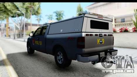 Ford F-150 Indonesian Police K-9 Unit para la visión correcta GTA San Andreas