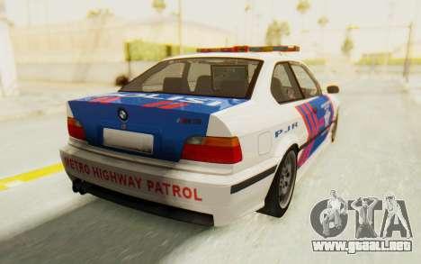 BMW M3 E36 Police Indonesia para GTA San Andreas left
