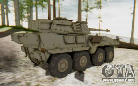 MGSV Phantom Pain STOUT IFV APC Tank v1 para GTA San Andreas vista posterior izquierda