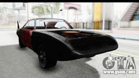 Dodge Charger Daytona F&F Bild para la visión correcta GTA San Andreas