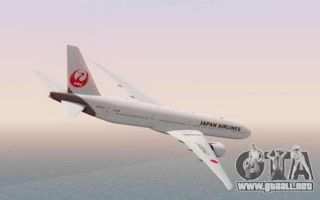 Boeing 777-300ER Japan Airlines v2 para GTA San Andreas left