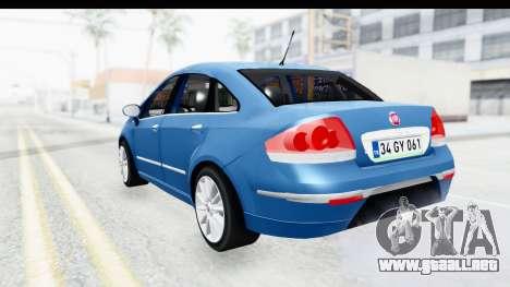 Fiat Linea 2014 Wheels para la visión correcta GTA San Andreas