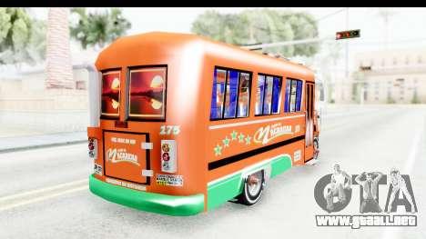 Dodge D600 v2 Bus para GTA San Andreas vista posterior izquierda
