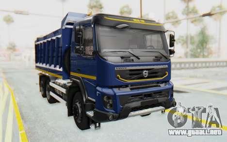Volvo FMX 6x4 Dumper v1.0 Color para la visión correcta GTA San Andreas