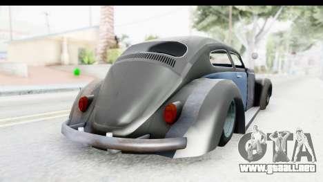 Volkswagen Beetle 1963 Hotrod para GTA San Andreas left