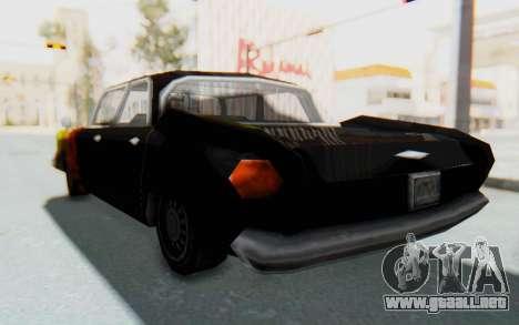 GTA VC Cuban Glendale para GTA San Andreas vista posterior izquierda