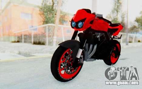 Kawasaki Ninja 250R Streetrace Naked para la visión correcta GTA San Andreas
