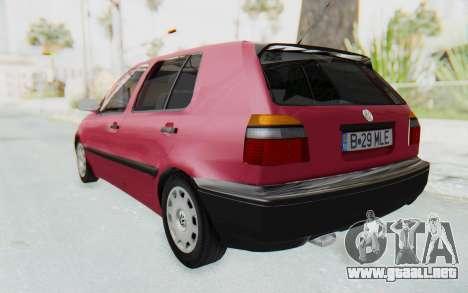 Volkswagen Golf 3 1994 para GTA San Andreas left
