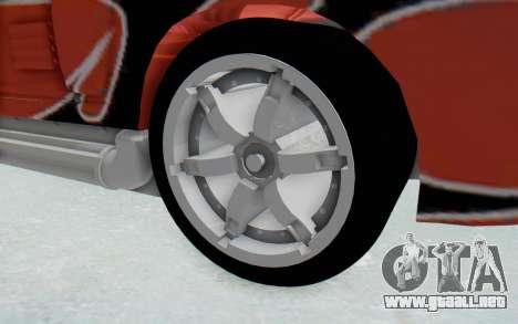 Hot Wheels AcceleRacers 2 para GTA San Andreas vista hacia atrás