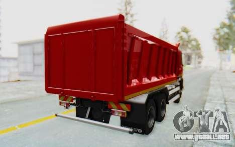 Volvo FMX 6x4 Dumper v1.0 para GTA San Andreas left