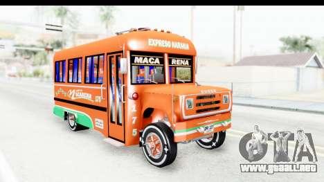 Dodge D600 v2 Bus para la visión correcta GTA San Andreas