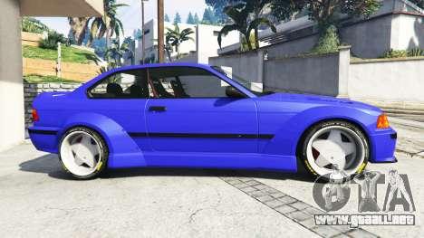 GTA 5 BMW M3 (E36) Street Custom [blue dials] v1.1 vista lateral izquierda