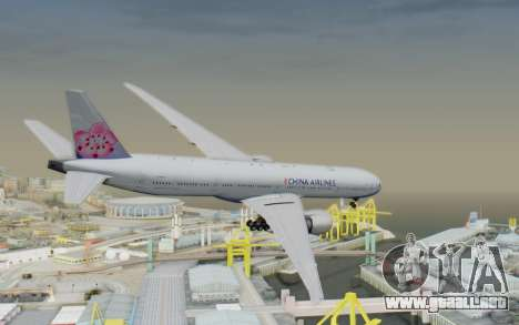 Boeing 777-300ER China Airlines para GTA San Andreas left