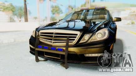 Mercedes-Benz E63 German Police Blue para GTA San Andreas