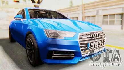 Audi A4 2017 HQLM para GTA San Andreas