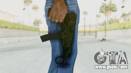 VZ-61 Skorpion Fold Stock Green Flecktarn Camo para GTA San Andreas