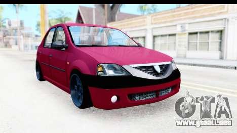 Dacia Logan Editie para la visión correcta GTA San Andreas